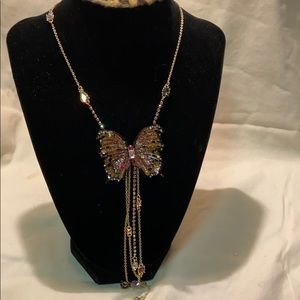 NWT Betsey Johnson butterfly necklace